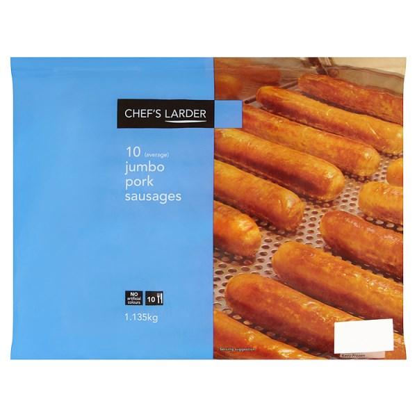 Chef's Larder 10 (Average) Jumbo Pork Sausages