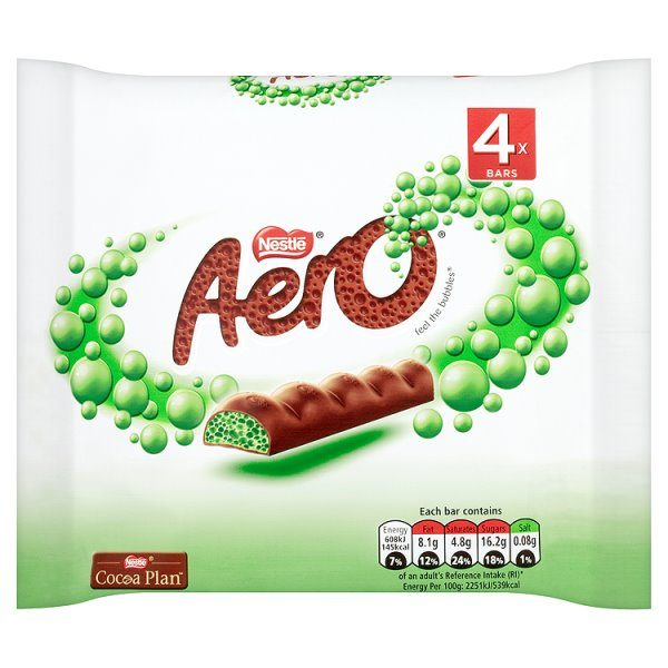 Aero Peppermint Chocolate Multipack (4 x 27g)