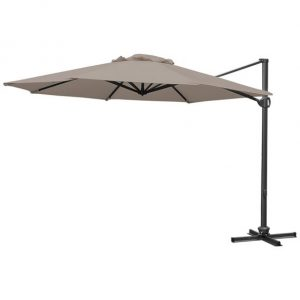 3.5m Round Buckingham Cantilever Parasol - Taupe