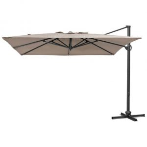 3m Sqaure Buckingham Cantilever Parasol - Taupe