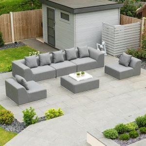 Buddha Sofa Set with Footstool - Flanelle