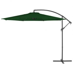 3m Round Basic Cantilever Parasol - Green