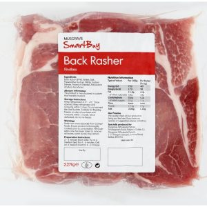 Smartbuy rindless bacon rashers