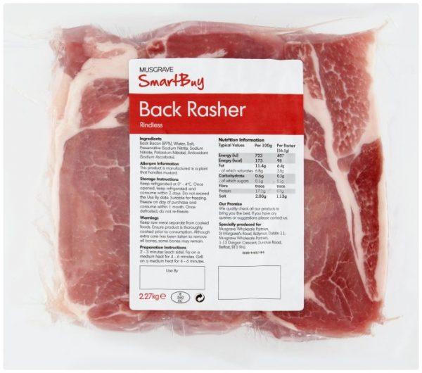 Smartbuy rindless bacon rashers